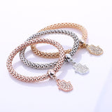 Hot Fashion 3 PCS/Set Crystal Hamsa hand Bracelet & Bangle. - love myself deals