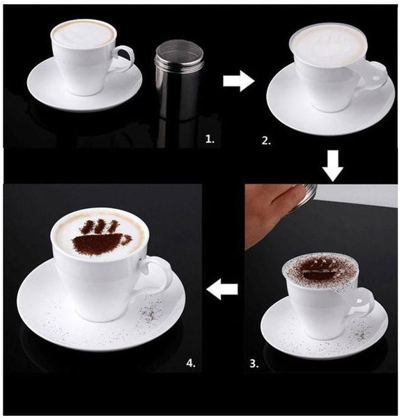 16Pcs Set Cappuccino Stencils. - love myself deals