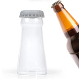 Creative glass beer cup with Silicone mat. - love myself deals