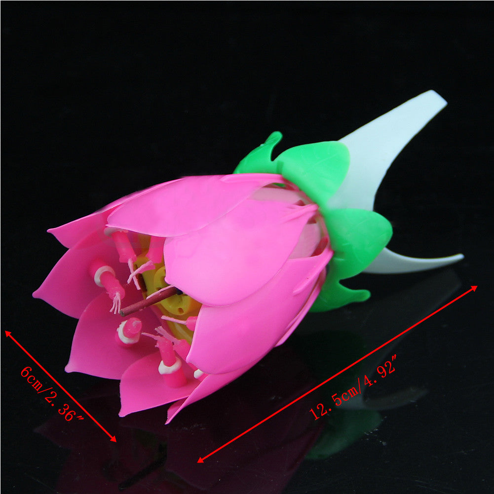 Pink musical lotus flower rotating happy birthday candle love love myself deals pink musical lotus flower rotating happy birthday candle izmirmasajfo