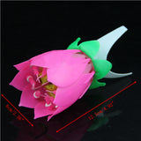 Pink Musical Lotus Flower Rotating Happy Birthday Candle. - love myself deals