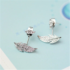 Modern Tree Leaf Stud Earrings. - love myself deals