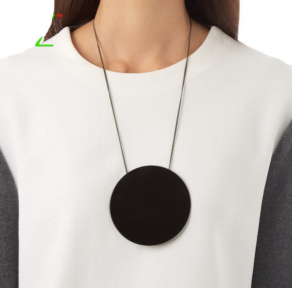 Designer Acrylic Circle Fashion Necklace. - love myself deals