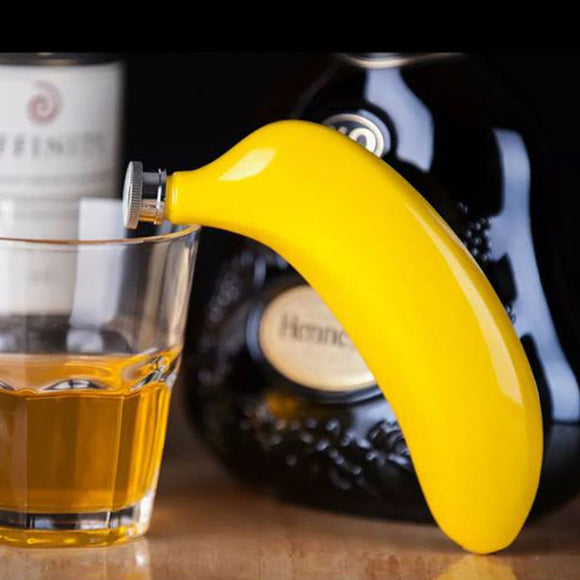 Fun Stainless Steel Banana Wine Flask. - love myself deals