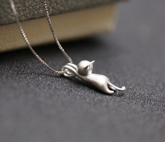 Hello Cat Lovers 925 Sterling Silver Necklace. - love myself deals