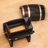 Wine Barrel Automatic Toothpick Holder/Dispenser for the Wine Lover! - love myself deals