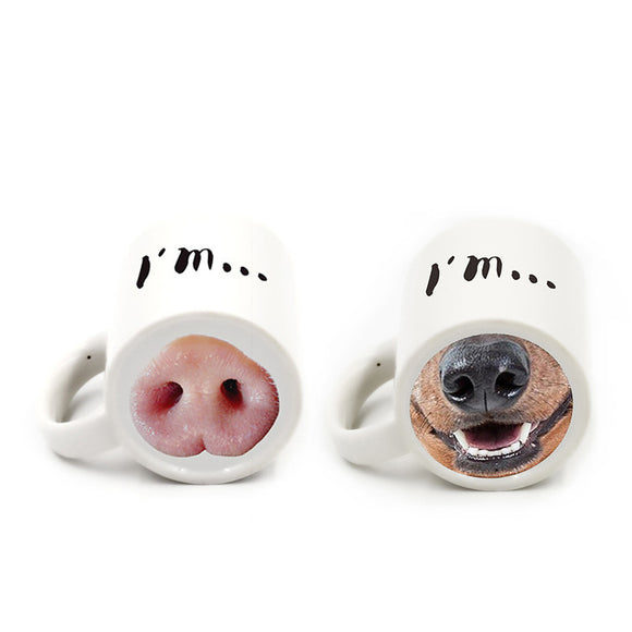 Limited edition animal nose mug - love myself deals