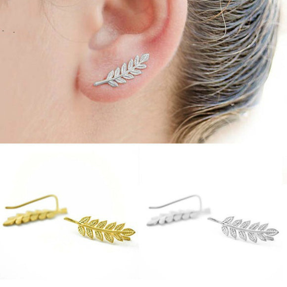 Vintage Design Modern Leaf Stud Earrings. - love myself deals
