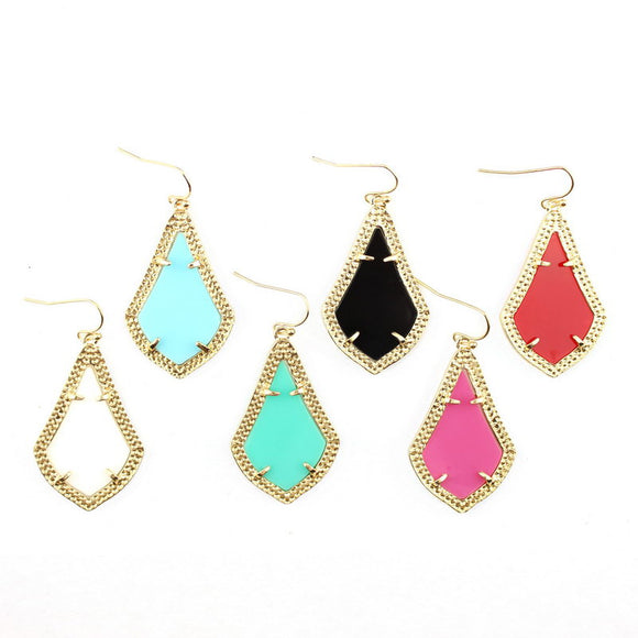 Modern Design Gold Plating Geometric Drop Earrings. - love myself deals