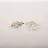 Vintage Modern Feather Stud Earrings. - love myself deals