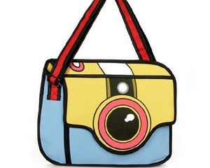 Fashionable 3D Stereo Camera Clutch Shoulder Bag. - love myself deals