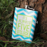 Colorful Stainless Steel Wine Flask Containing Fun Messages. - love myself deals