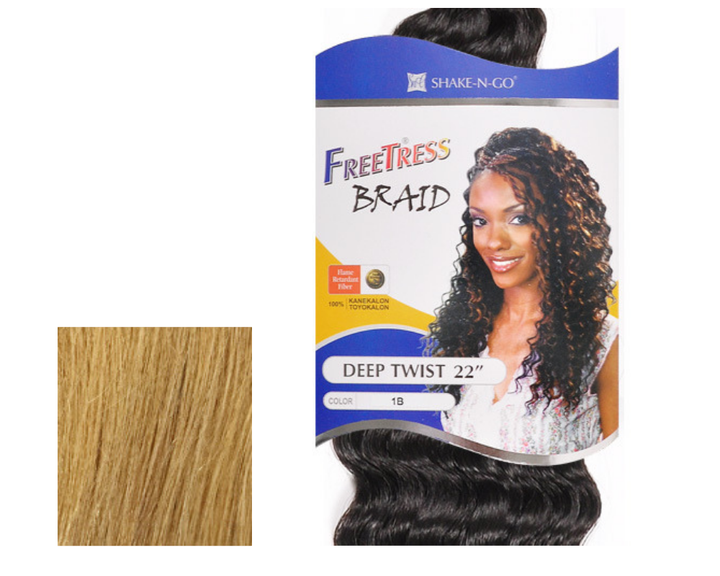 "FREETRESS SYNTHETIC HAIR CROCHET BRAIDS DEEP TWIST 22"" - GABBY'S HAIR"