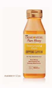 CREME OF NATURE PURE HONEY Texturizing Curl Setting Lotion - GABBY'S HAIR