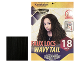 "KINGSTON KINGTWIST FAUX LOCS WAVY TAIL 18"" - GABBY'S HAIR"