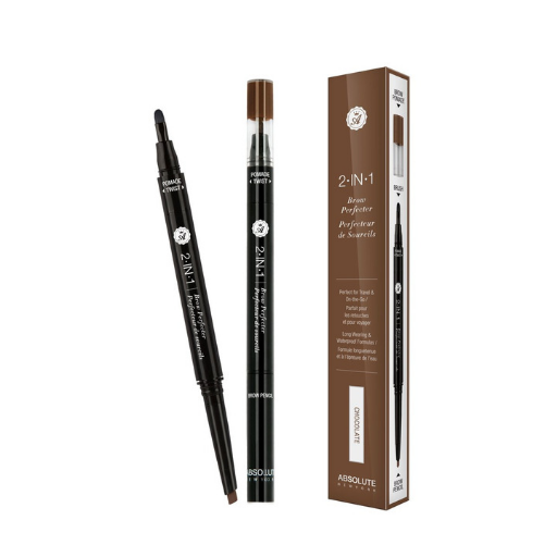 ABSOLUTE NEW YORK 2-IN-1 BROW PERFECTER - CHOCOLATE - GABBY'S HAIR