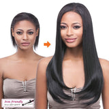 "It's A Wig 14"" Clip In Yaki Straight Hair Exentsions Color 1B - GABBY'S HAIR"