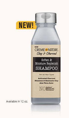 Creme Of Nature Charcoal & Clay Soften & Moisture Replenish Shampoo - GABBY'S HAIR