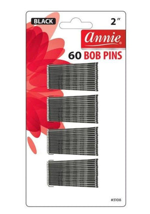 ANNIE BOB PINS 60 PCS (BLACK) #3108 - GABBY'S HAIR
