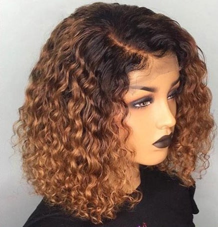Short Curly 13x4 Lace Front BOB Wig T1B/27 / 16inches - GABBY'S HAIR