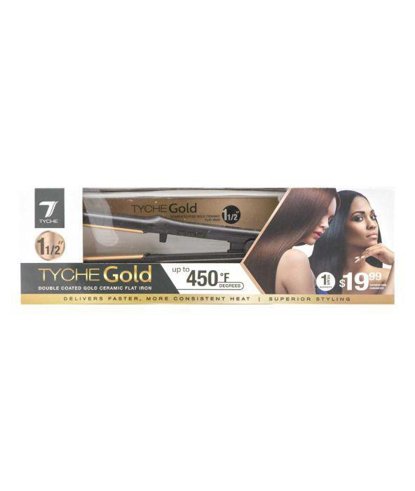 TYCHE GOLD FLAT IRON 1 1/2