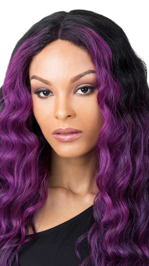 IT'S A WIG EDGAR FF Purple Black - GABBY'S HAIR