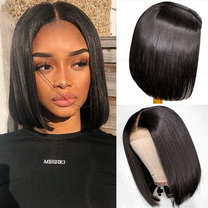 Brazilian Straight Full Lace Wig Bob - GABBY'S HAIR