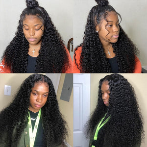 Malaysian Deep Curly 360 Lace Front - GABBY'S HAIR