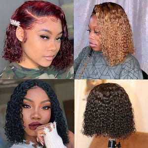 Short Curly 13x4 Lace Front BOB Wig - GABBY'S HAIR