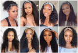 Body Wave Headband Human Hair Wigs W/Free Scarf No Glue Beginner Friendly - GABBY'S HAIR
