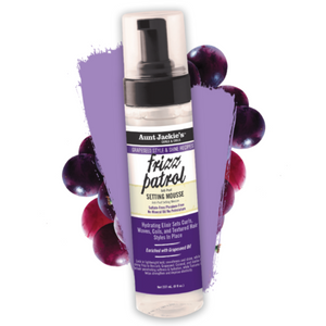Aunt Jackie's Grapeseed Frizz Patrol Setting Mousse 8 oz. - GABBY'S HAIR