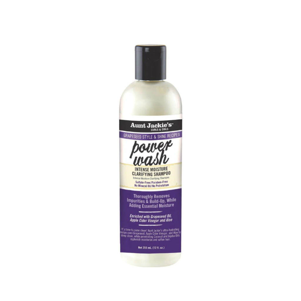 Aunt Jackie's Grapeseed Power Wash Intense Moisture Clarifying Shampoo 12 oz. - GABBY'S HAIR
