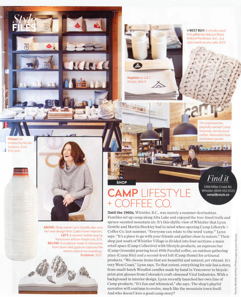 Canadian House & Home: Camp Lifestyle + Coffee Co
