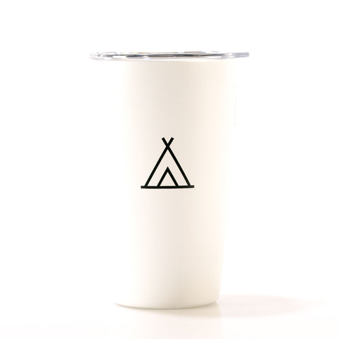 Camp Travel Cup White 12oz