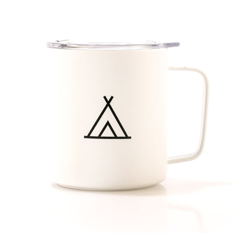 Camp Travel Mug 12oz White