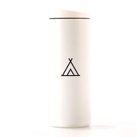 Camp Travel Tumbler 16oz White