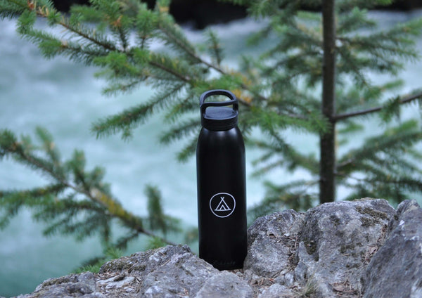 Black 24oz Camp Water Bottle