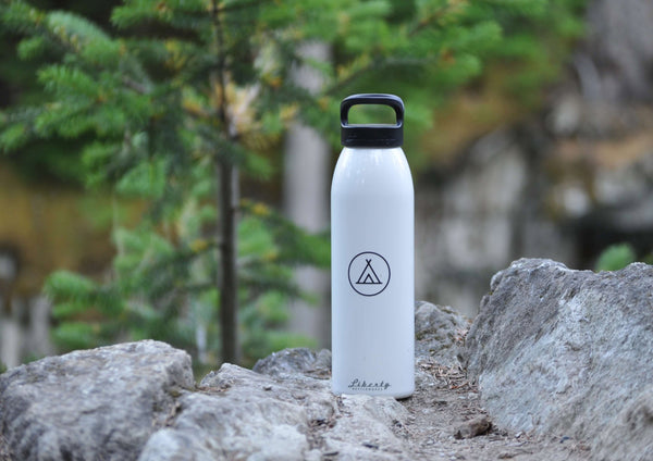 White 24oz Camp Water Bottle