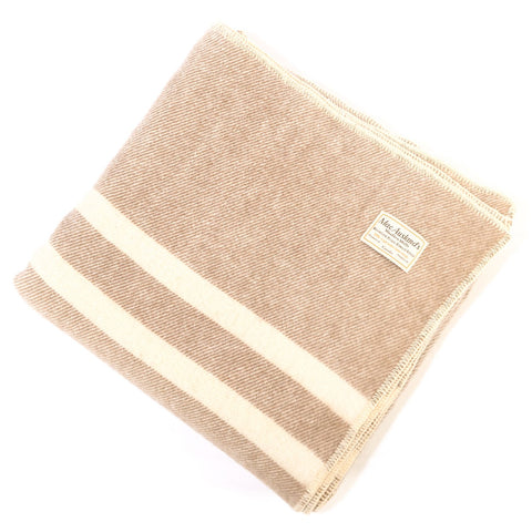 Canadian Wool Queen Blanket Brown/White