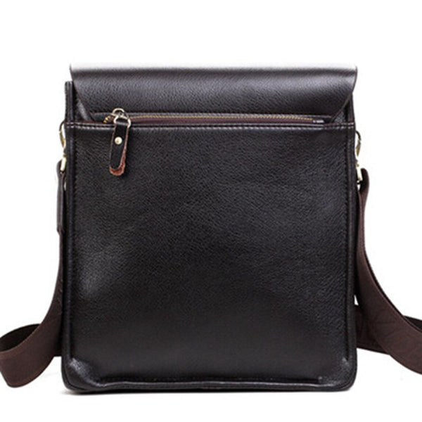 Men's Polo Crossbody Messenger Bag PU Leather Travel Bag