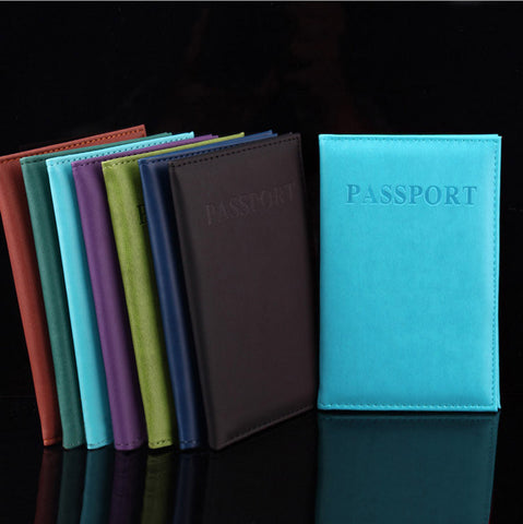 PU Passport/Credit Card Unisex Travel Holder