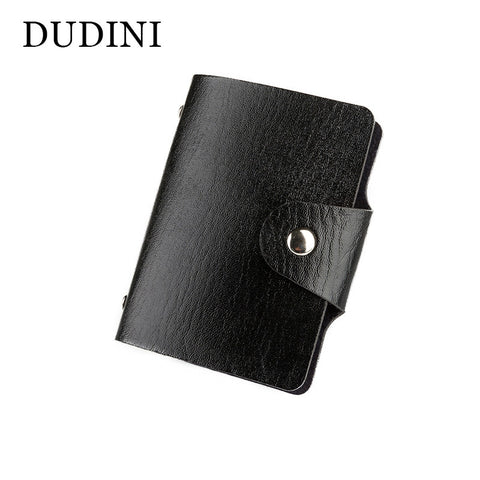 DUDINI UNISEX Men's or Women Leather Credit Card Holder Wallet PU Leather