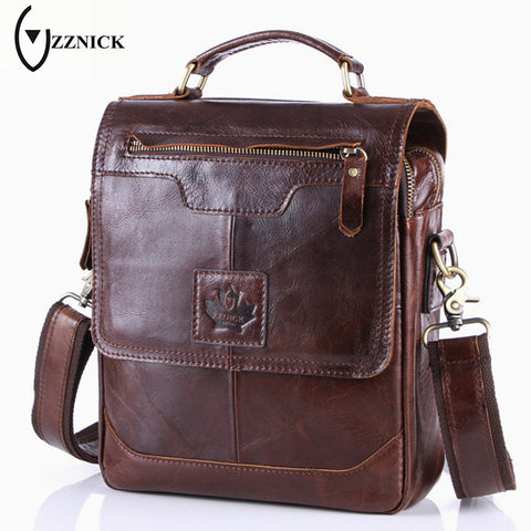 Men's Business Bag Genuine Cow Leather Handbag