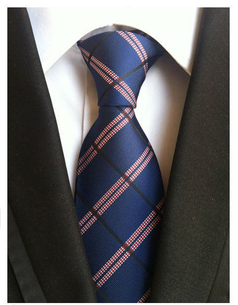 Mens fashion stripe tie polyester silk necktie dress business - FREE DELIVERY