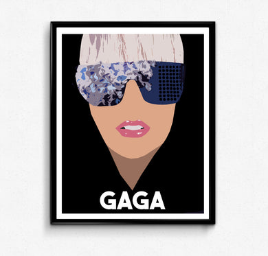 Lady Gaga Portrait- Feminist Icon, Minimalist Print, Wall Art Decor
