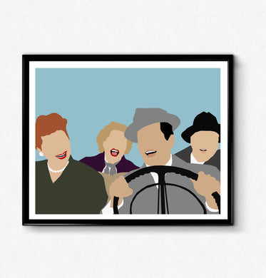 I Love Lucy Poster- TV Show Poster, Lucille Ball, Retro Poster, Minimalist Print