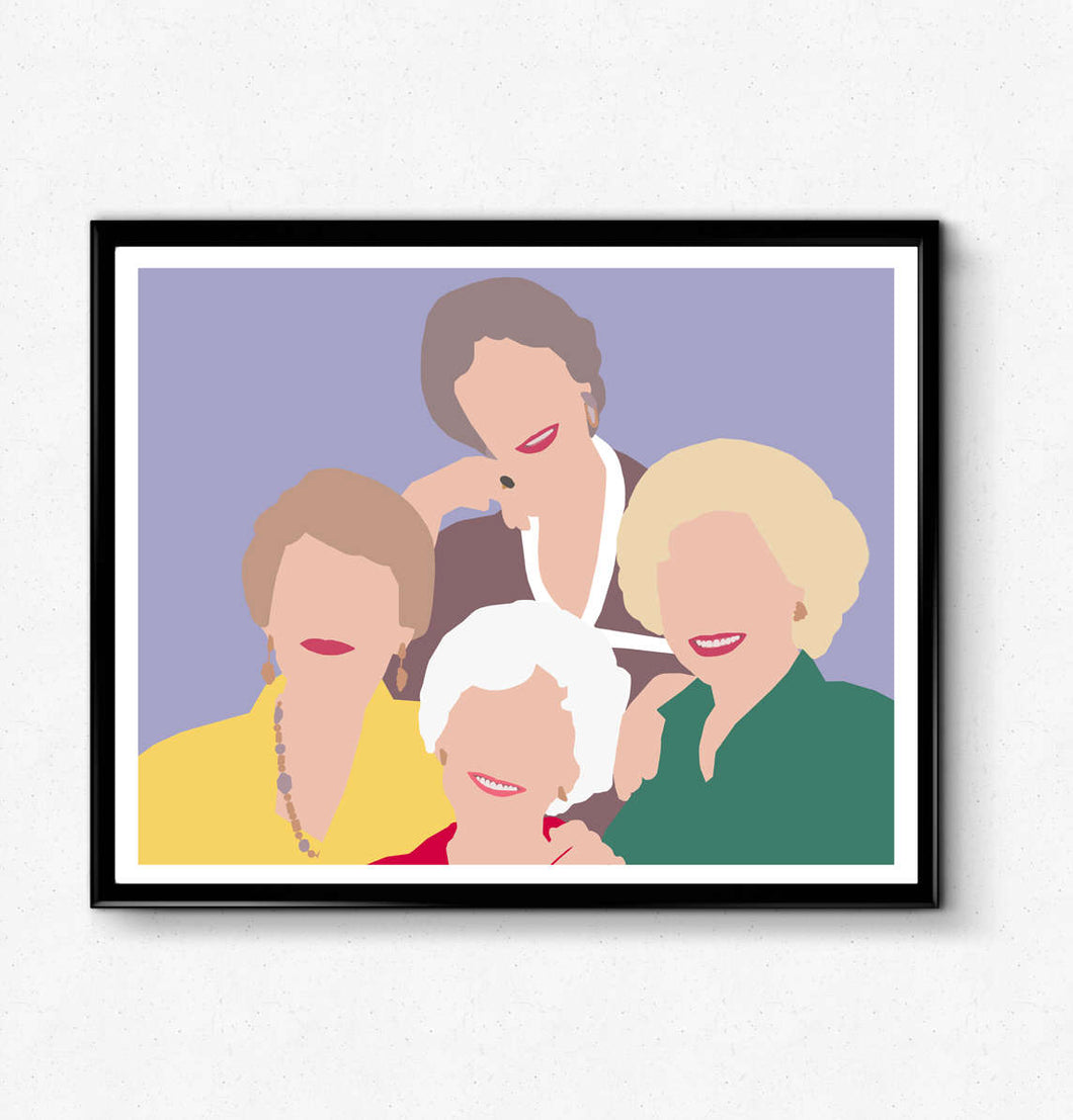 Golden Girls Poster, Minimalist Print