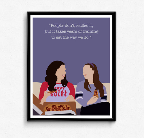 Gilmore Girls, Quote • TV Print