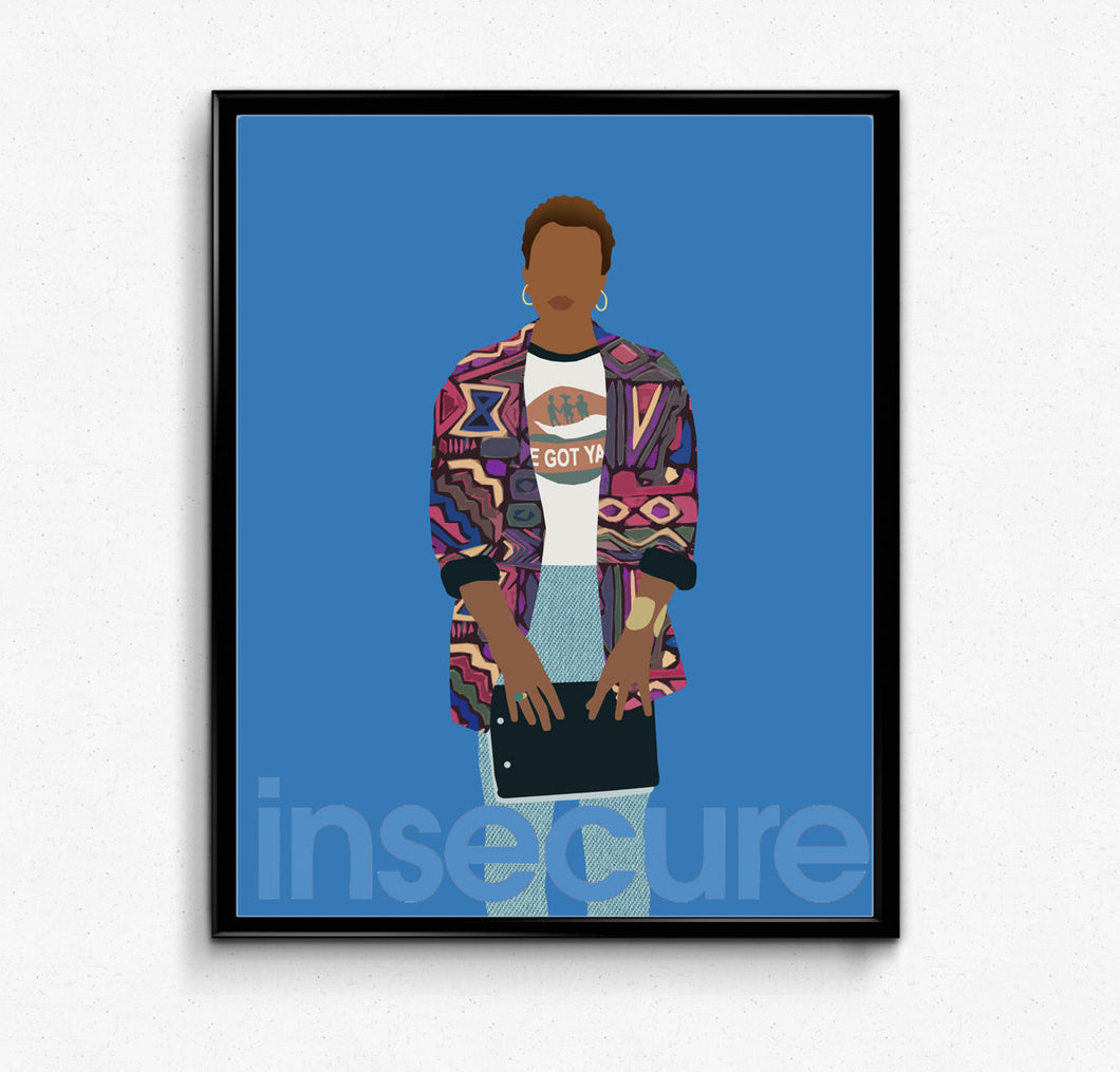 Insecure TV Poster- Issa Rae Poster, Minimalist Poster, TV show Poster, HBO