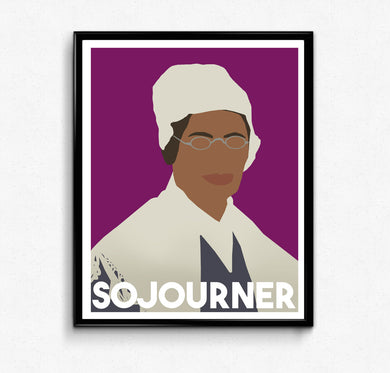 Sojourner Truth Poster- Feminist Poster, Minimalist Print, Wall Art Decor